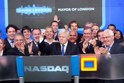 Opening NASDAQ with London Mayor Boris Johnson
